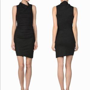 Helmut Lang asymmetric sonar wool sleeveless dress